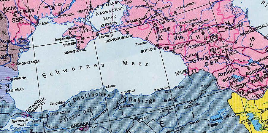 Karte Vom Schwarzen Meer